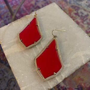 Red Alexandra Earrings Kendra Scott